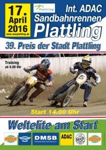Plakat Sandbahnrennen 2016